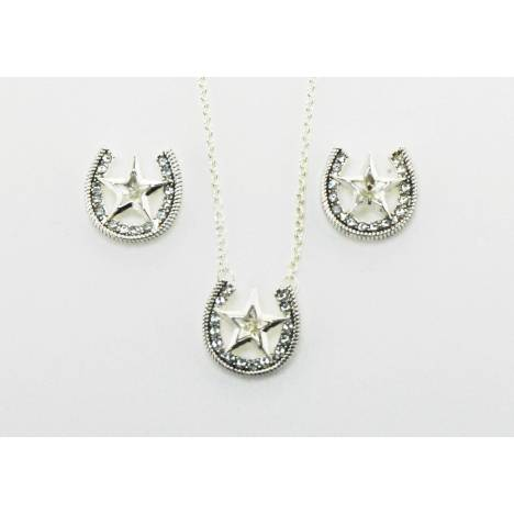 Western Edge Jewelry Star & Horseshoe Jewlery Set