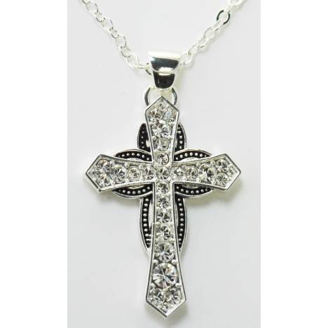 Western Edge Jewelry Cross Horseshoe Necklace