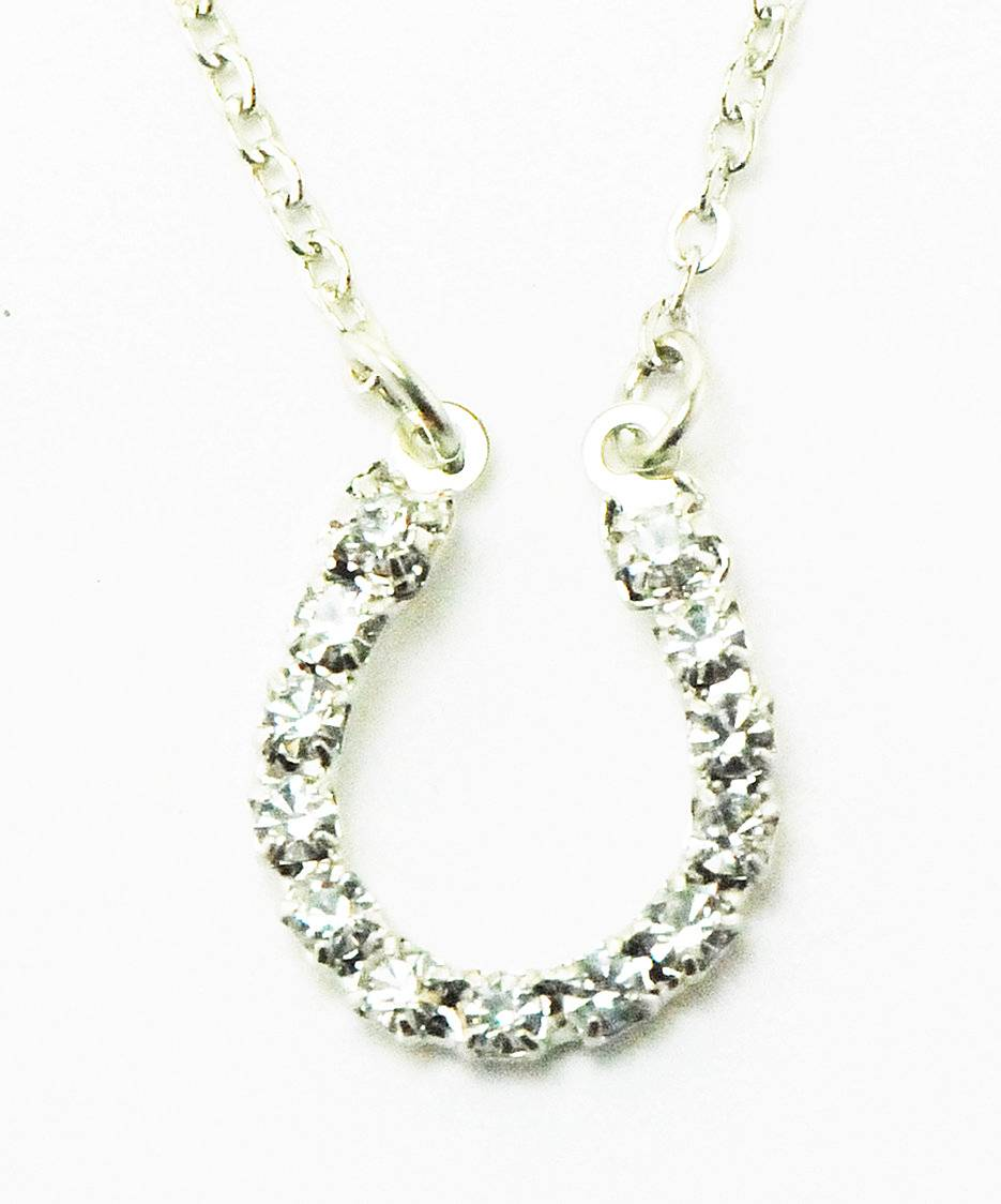 Western Edge Jewelry Rhinestone Horseshoe Necklace