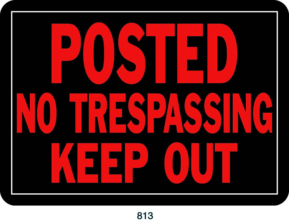 No Trespassing Property Sign