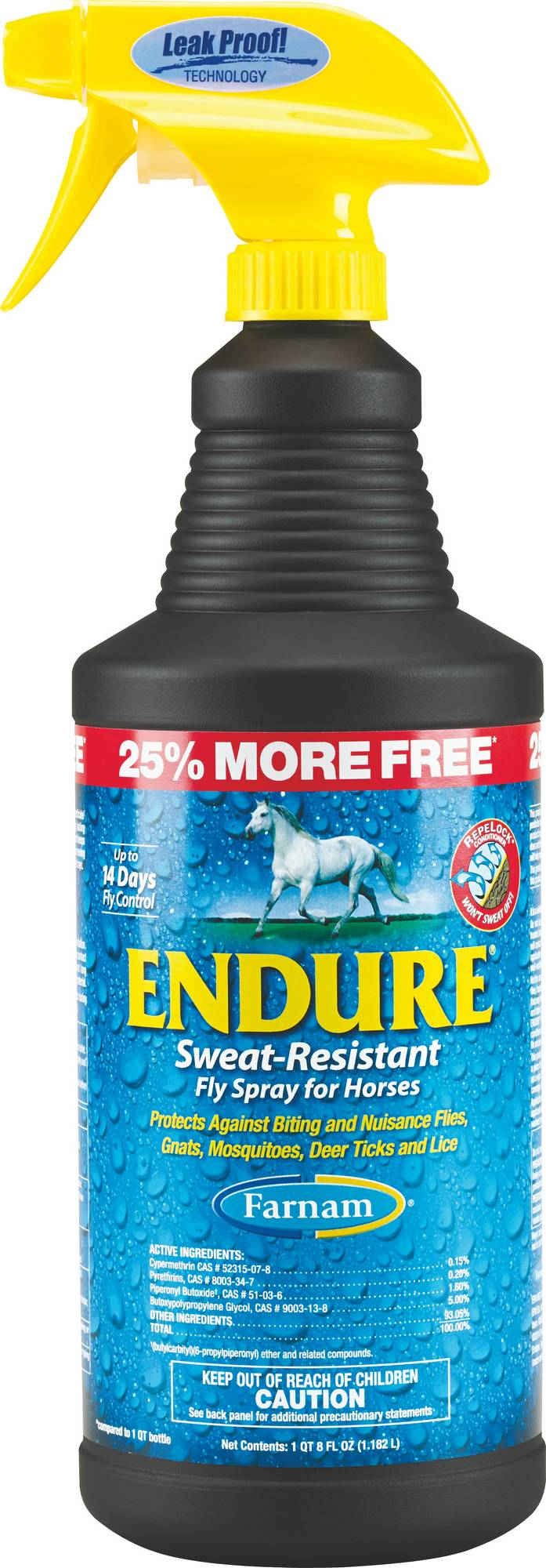Farnam Endure Sweat Resistant Fly Spray For Horses Bonus