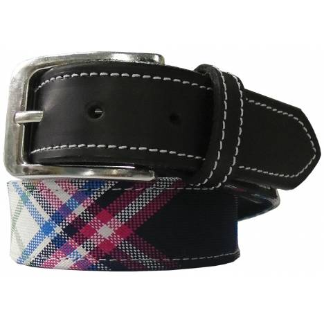 Equine Couture Ladies Amber Diagonal Plaid Belt