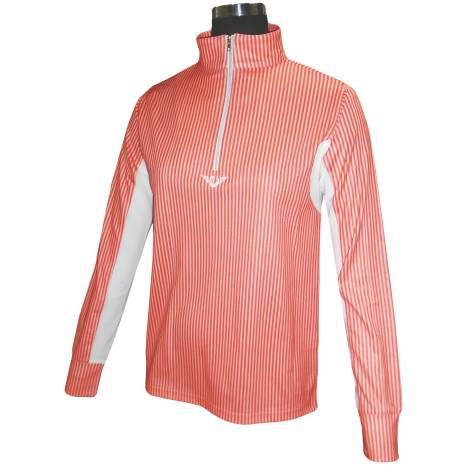 Tuffrider Neon Stripe Long Sleeve Technical Shirt -Ladies