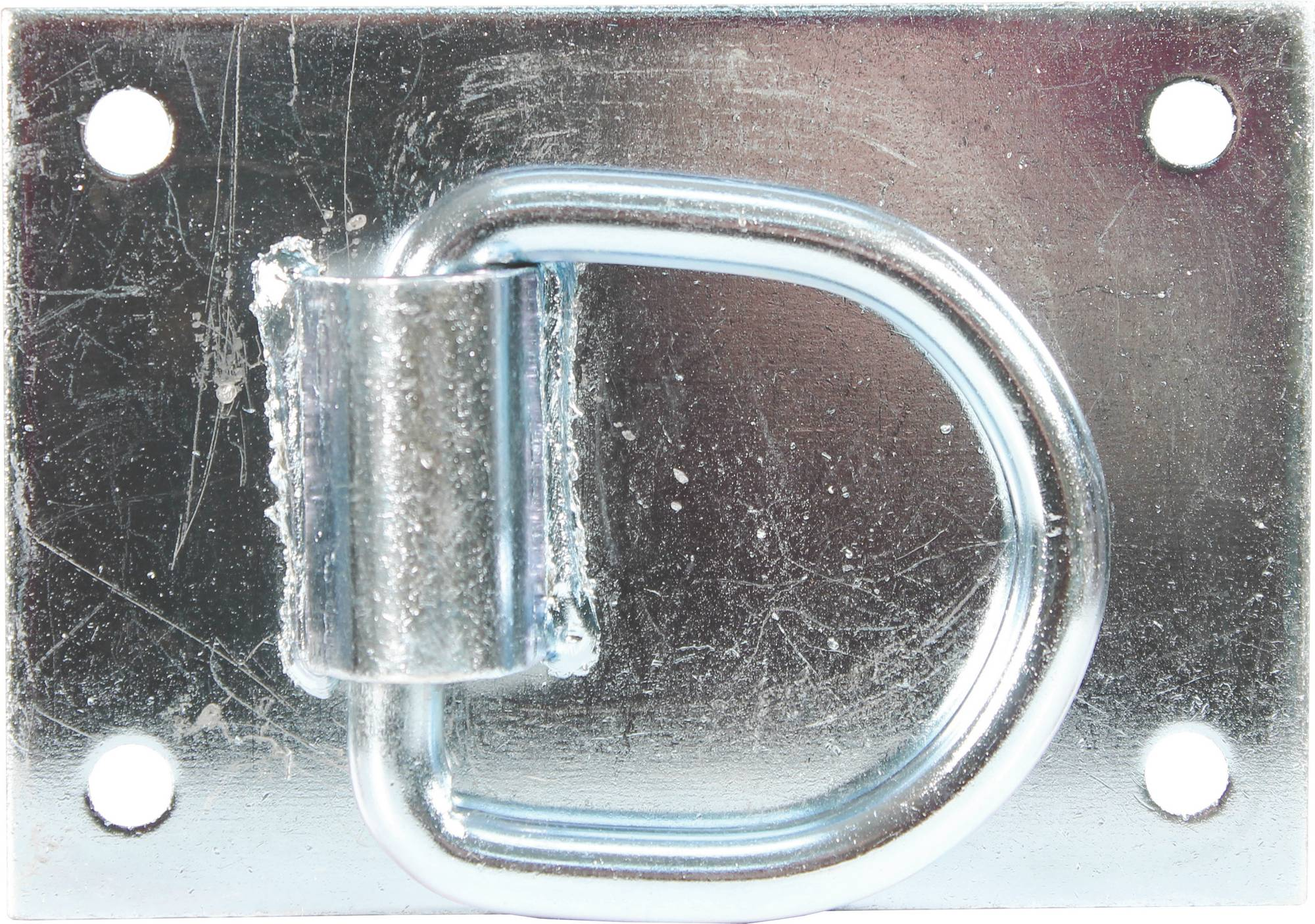 Heavy Duty Tie Ring For Horse Barns - Silver - 3.5X5''