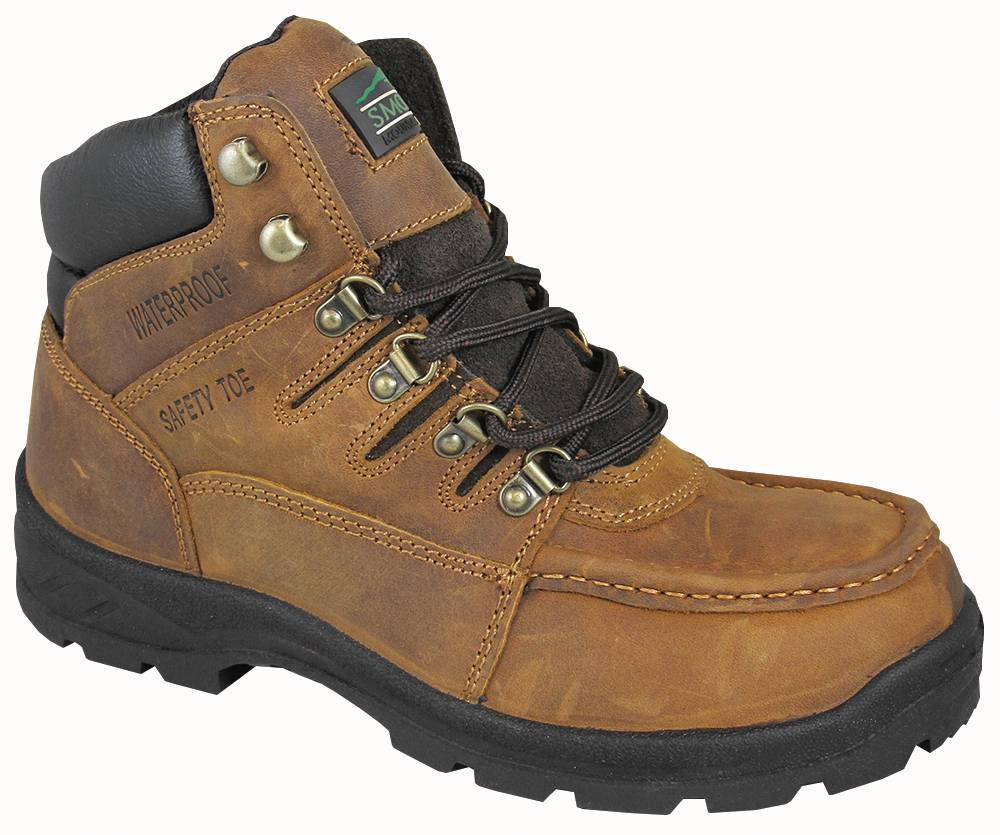 Smoky Mountain Mens Dixon Waterproof Steel Toe Lace Up Boots -Crazy Horse