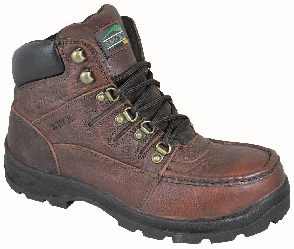 Smoky Mountain Men's Dixon Waterproof Steel Toe Lace Up Boots -Brown