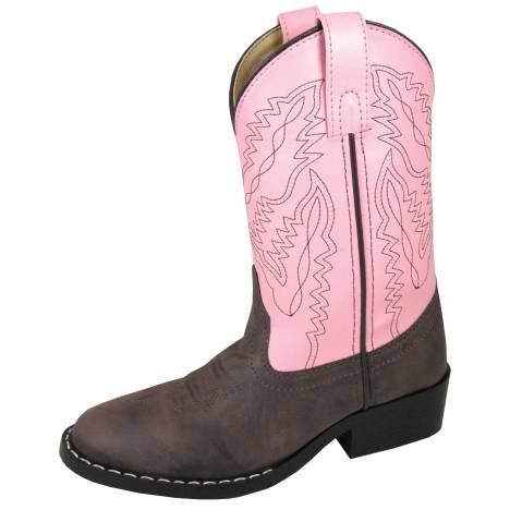 Smoky Mountain Childs Monterey Western Boots - Brown/Pink
