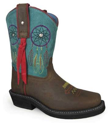 Smoky Mountain Child's Dreamcatcher Square Toe Boots