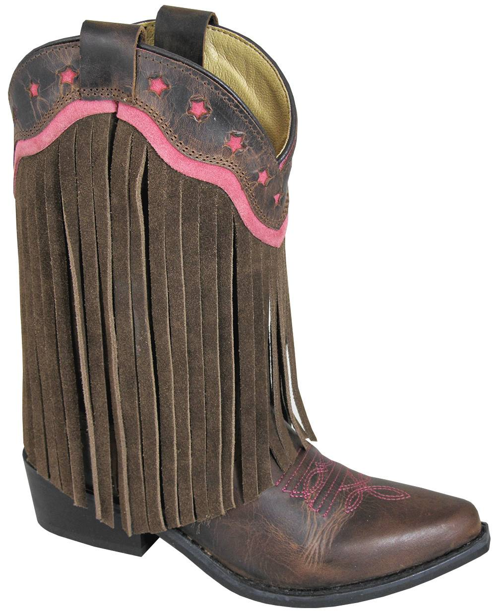 Smoky Mountain Childs Helena Suede Fringe Boots