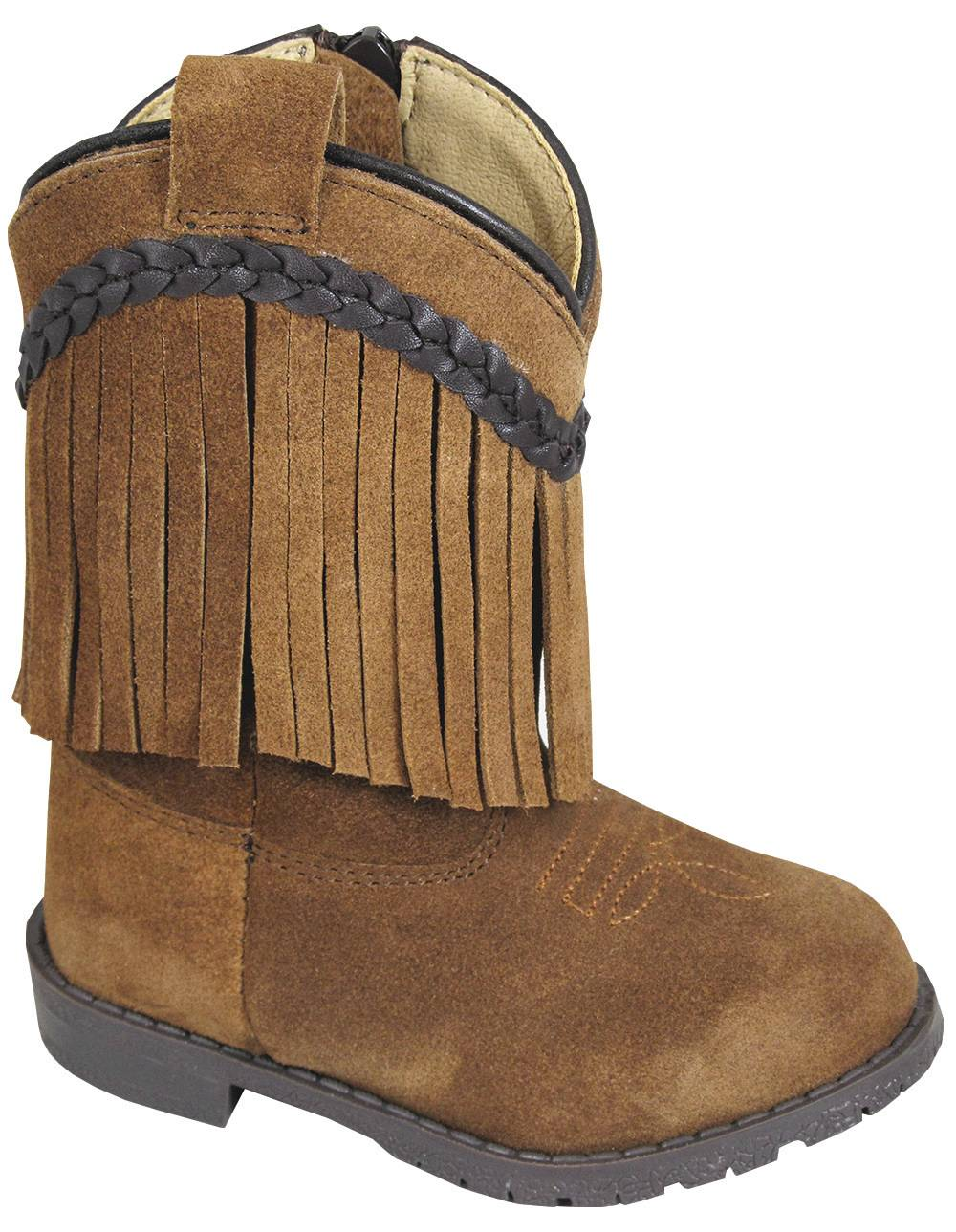 Smoky Mountain Toddler Hopalong Fringe Zip Boot - Brown