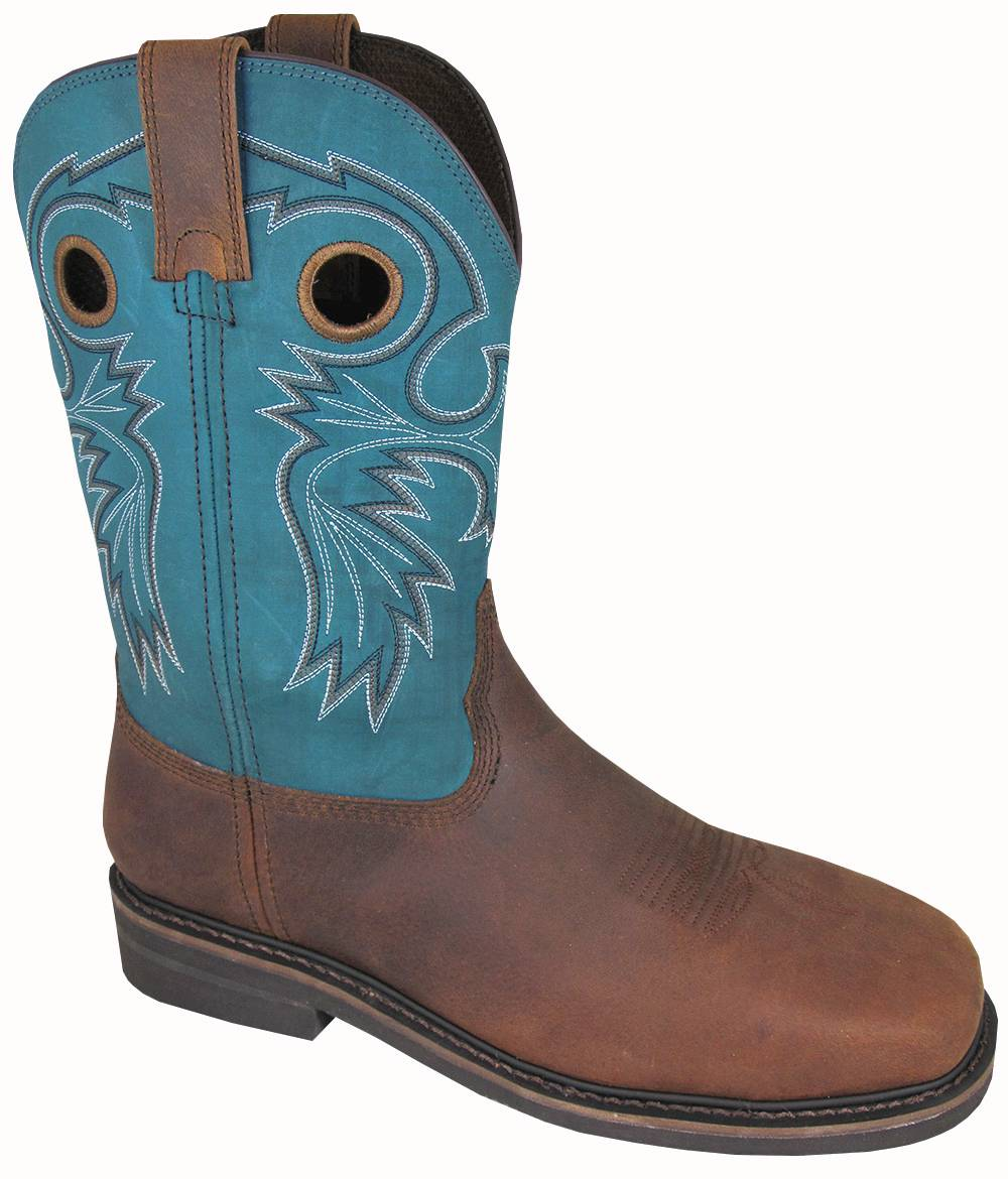 Smoky Mountain Men's Grizzly Steel Square Toe Boots - Blue