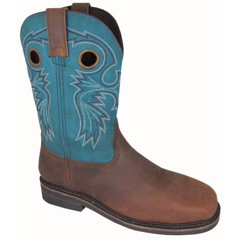 Smoky Mountain Mens Grizzly Steel Square Toe Boots - Blue