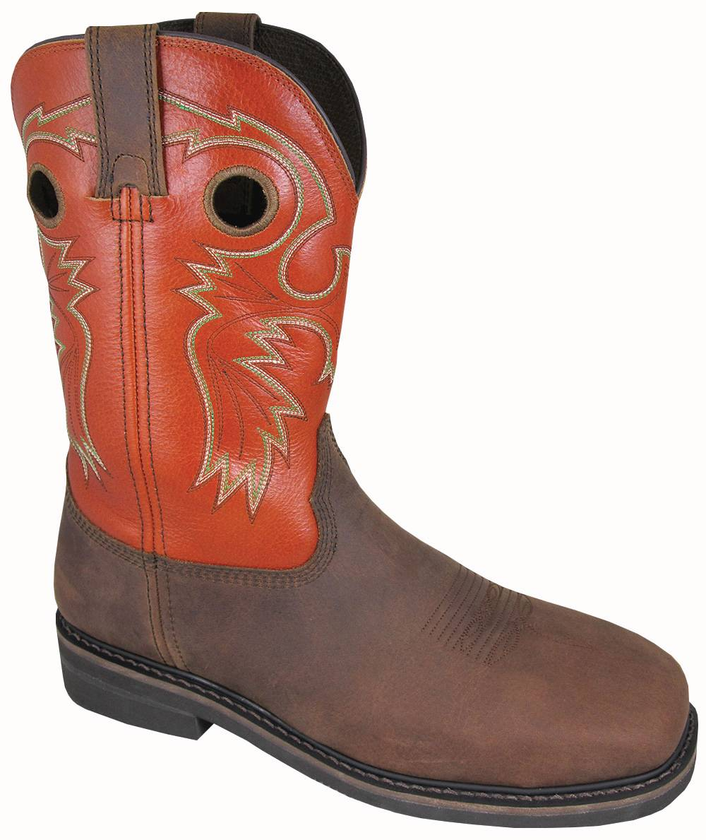 Smoky Mountain Mens Grizzly Steel Square Toe Boots - Burnt Orange