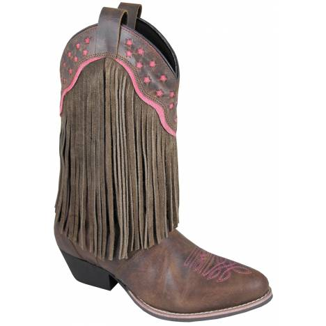 Smoky Mountain Womens Helena Suede Fringe Boots