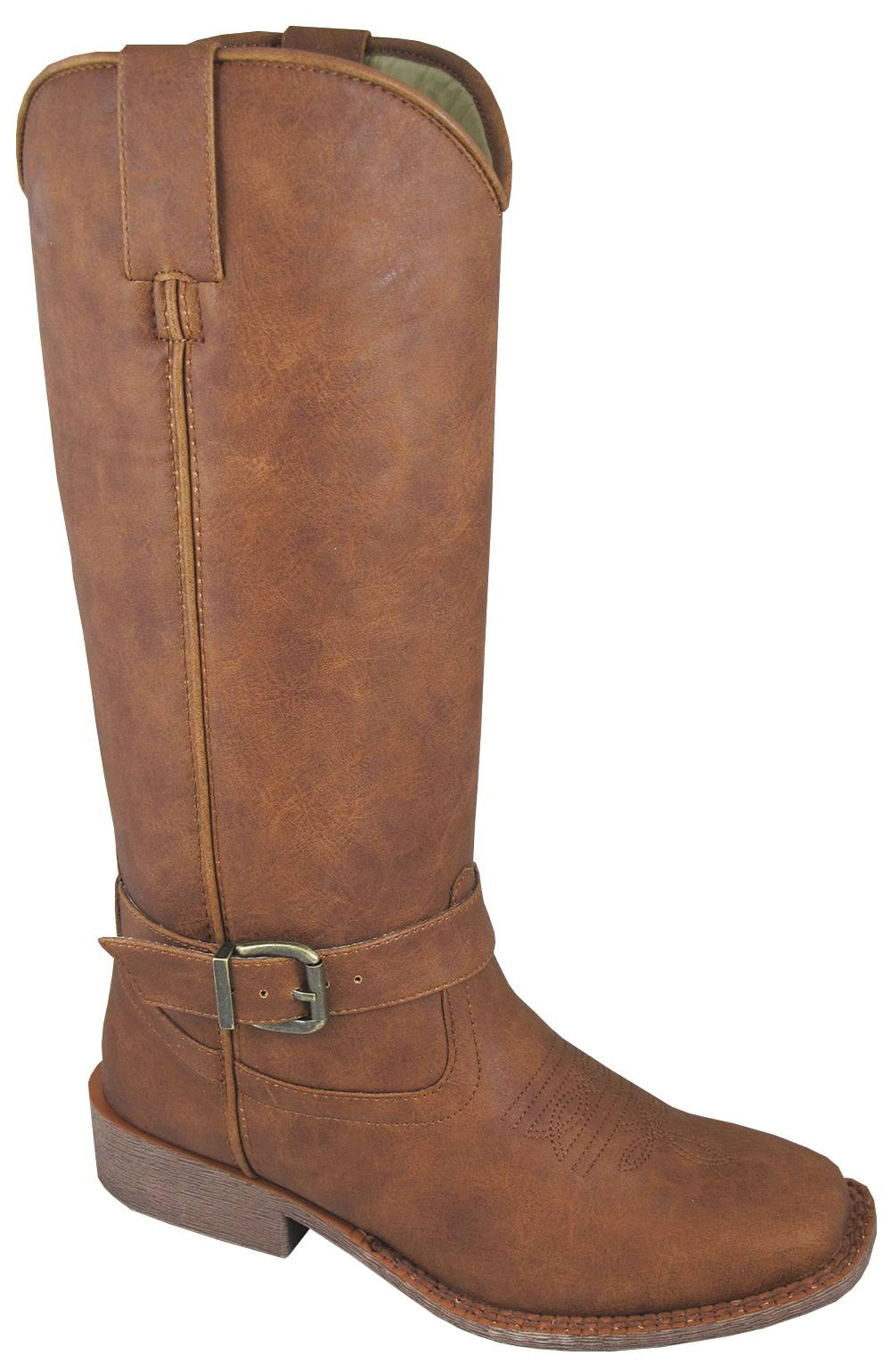 Smoky Mountain Womens Buttercup Tall Square Toe Boots - Tan