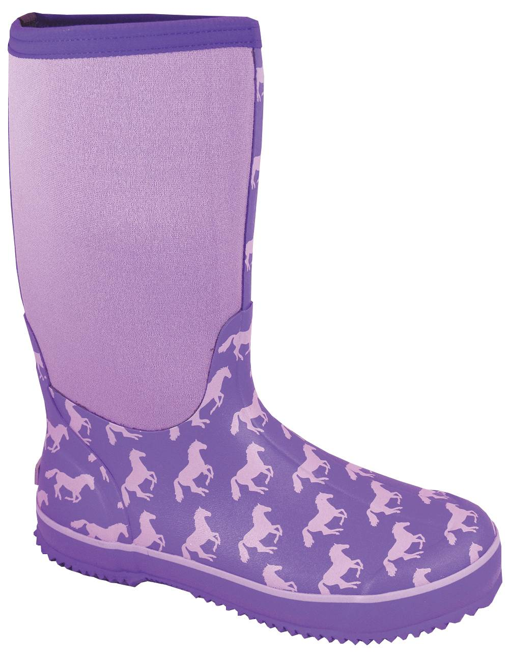 Smoky Mountain Women's Horses Amphibian Boots - Purple