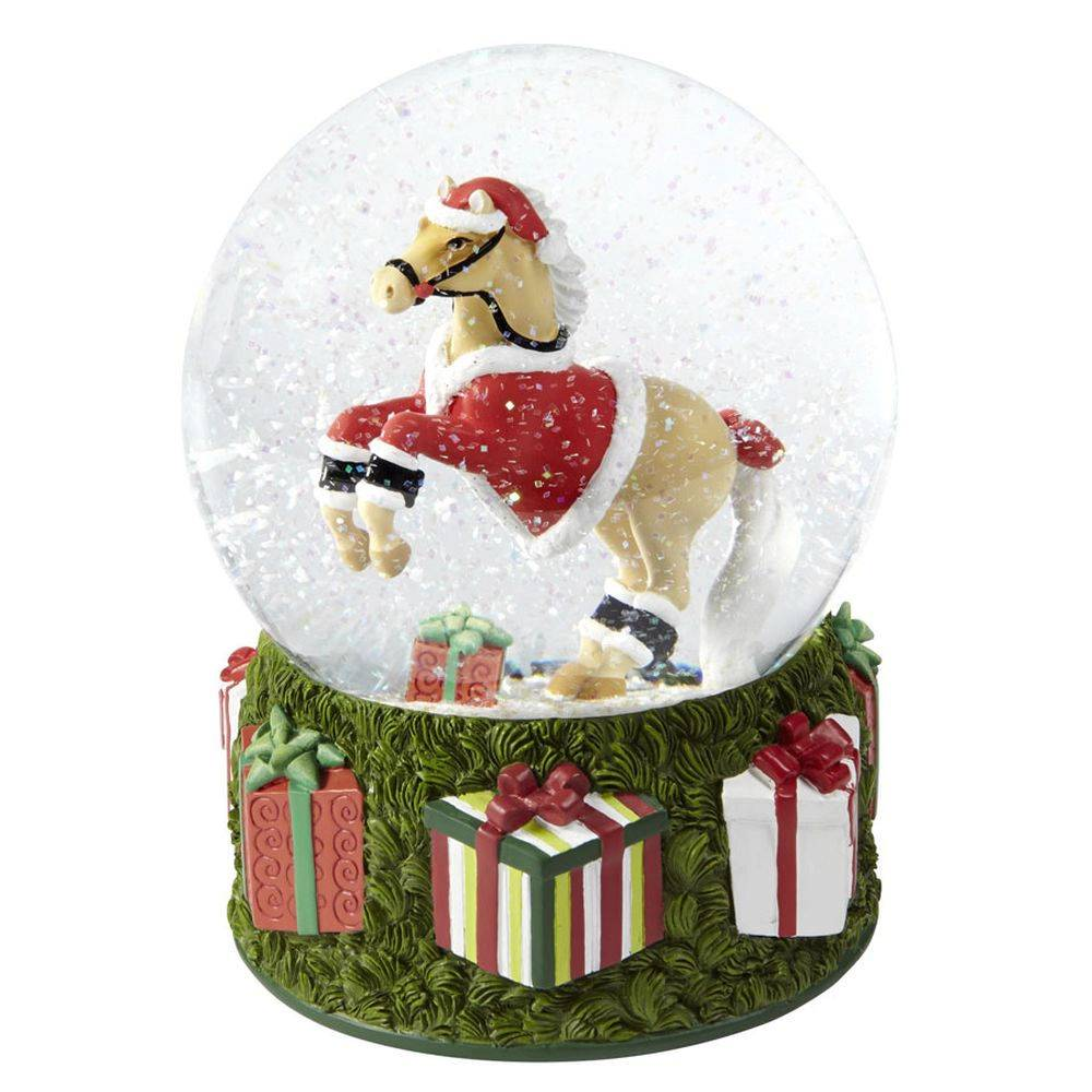 The Trail Of Painted Ponies Santas Pony Musical Snow Globe