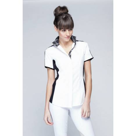 NOEL ASMAR Equestrian Ladies Short Sleeve Noir Show Shirt