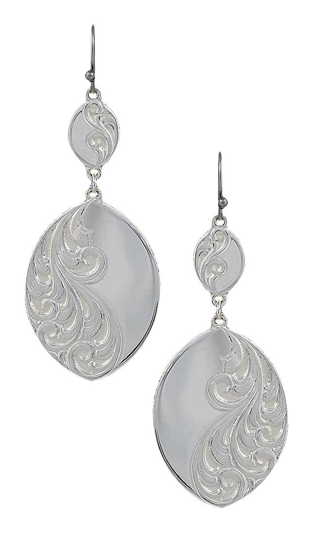 Montana Silversmiths A Winter's Breeze Earrings