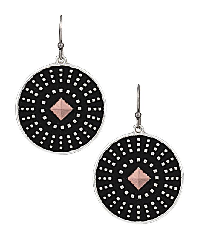 Montana Silversmiths CrossCut Dark Star Earrings