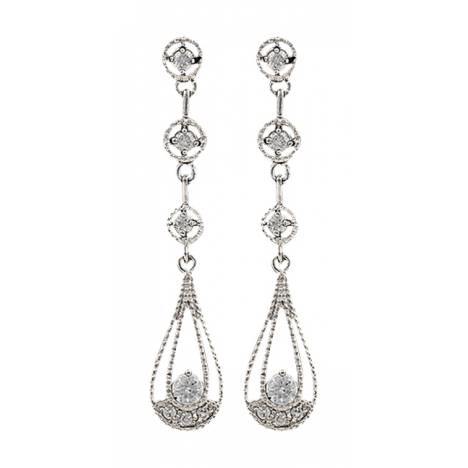 Montana Silversmiths Three Tiered Raindrop Earrings