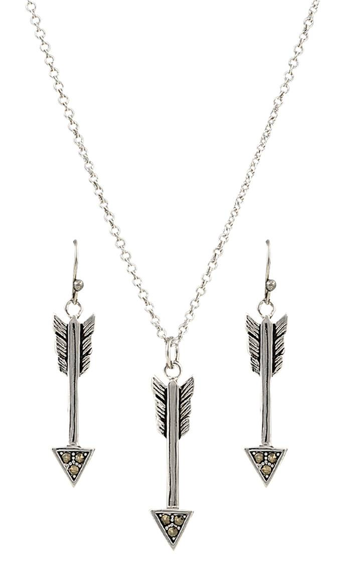 Montana Silversmiths Sparks Will Fly True Arrow Jewelry Set