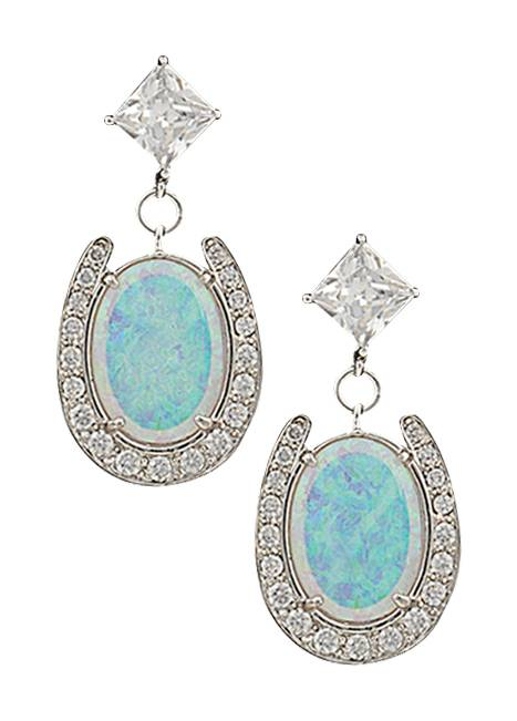 Montana Silversmiths River of Lights Pond of Luck Earrings in the Evening Sky