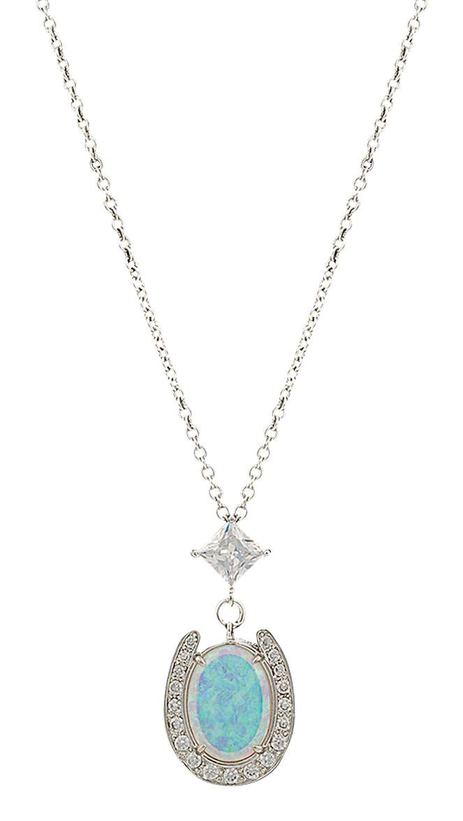 Montana Silversmiths River Lights in a Pond of Luck in the Evening Sky Necklace