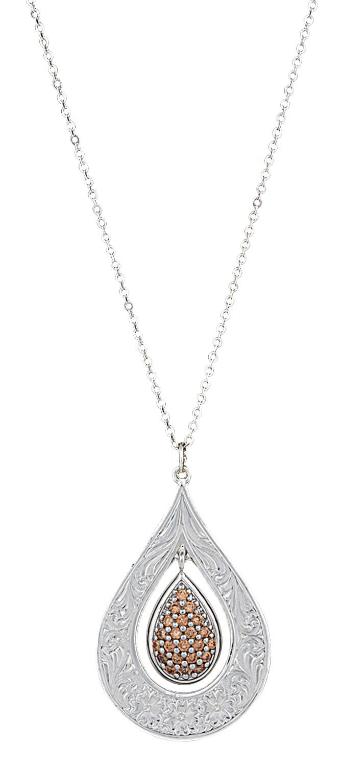 Montana Silversmiths Flower's Champagne Spark Necklace