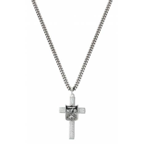 Montana Silversmiths NFR Silver Cross Necklace