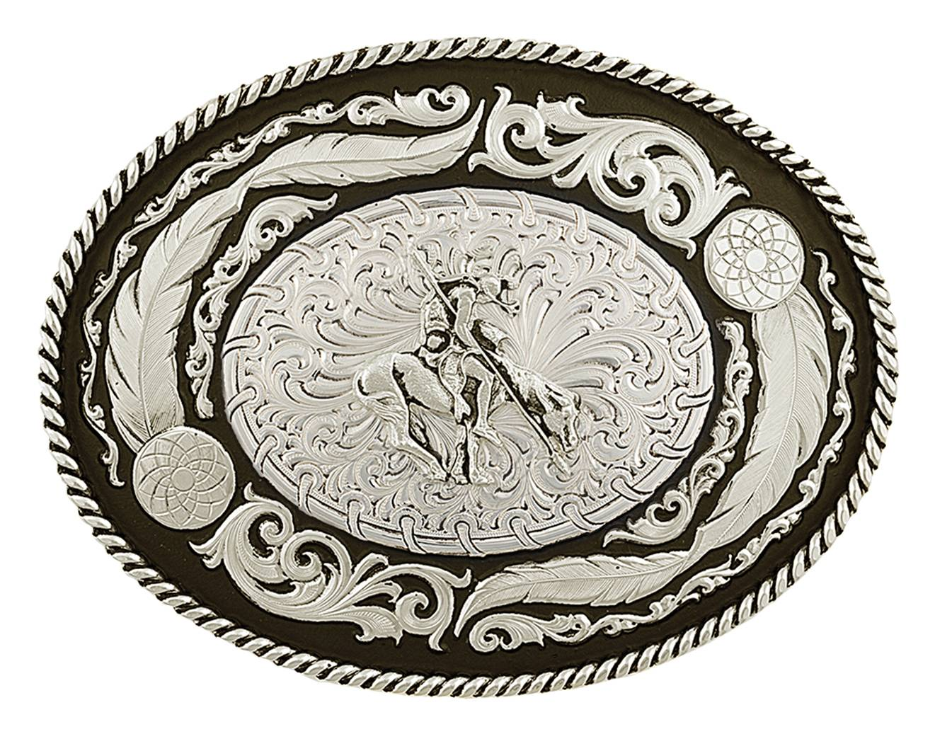 Montana Silversmiths Wind Dancer Buckle with End of the Trail Figure