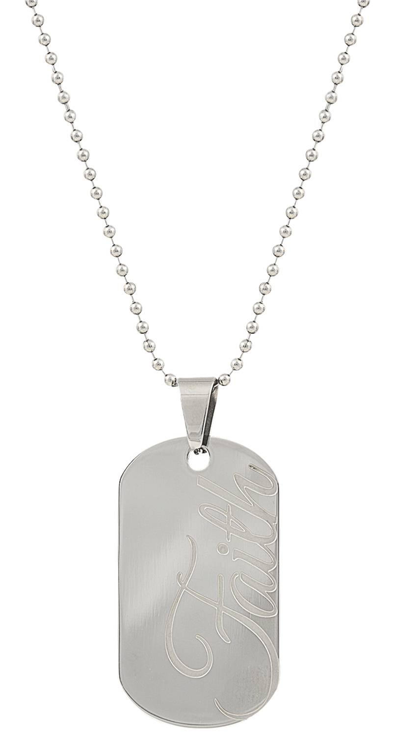 Montana Silversmiths Stainless Steel Faith Token Necklace