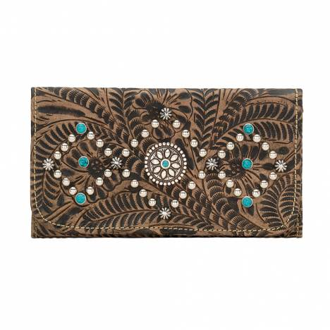AMERICAN WEST Canyon Creek Tri-fold Wallet - Chocolate