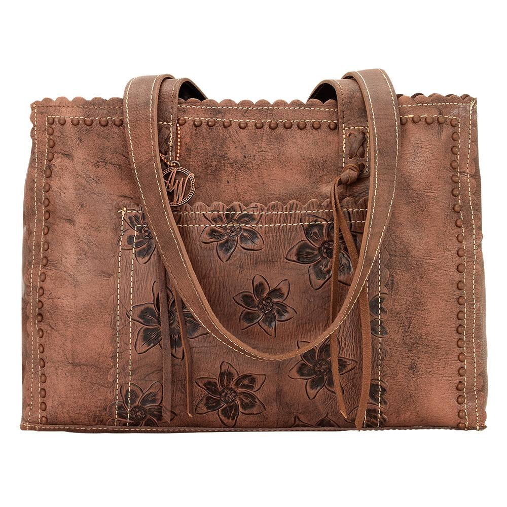 AMERICAN WEST Flower Child Shopper Tote - Dusty Rose