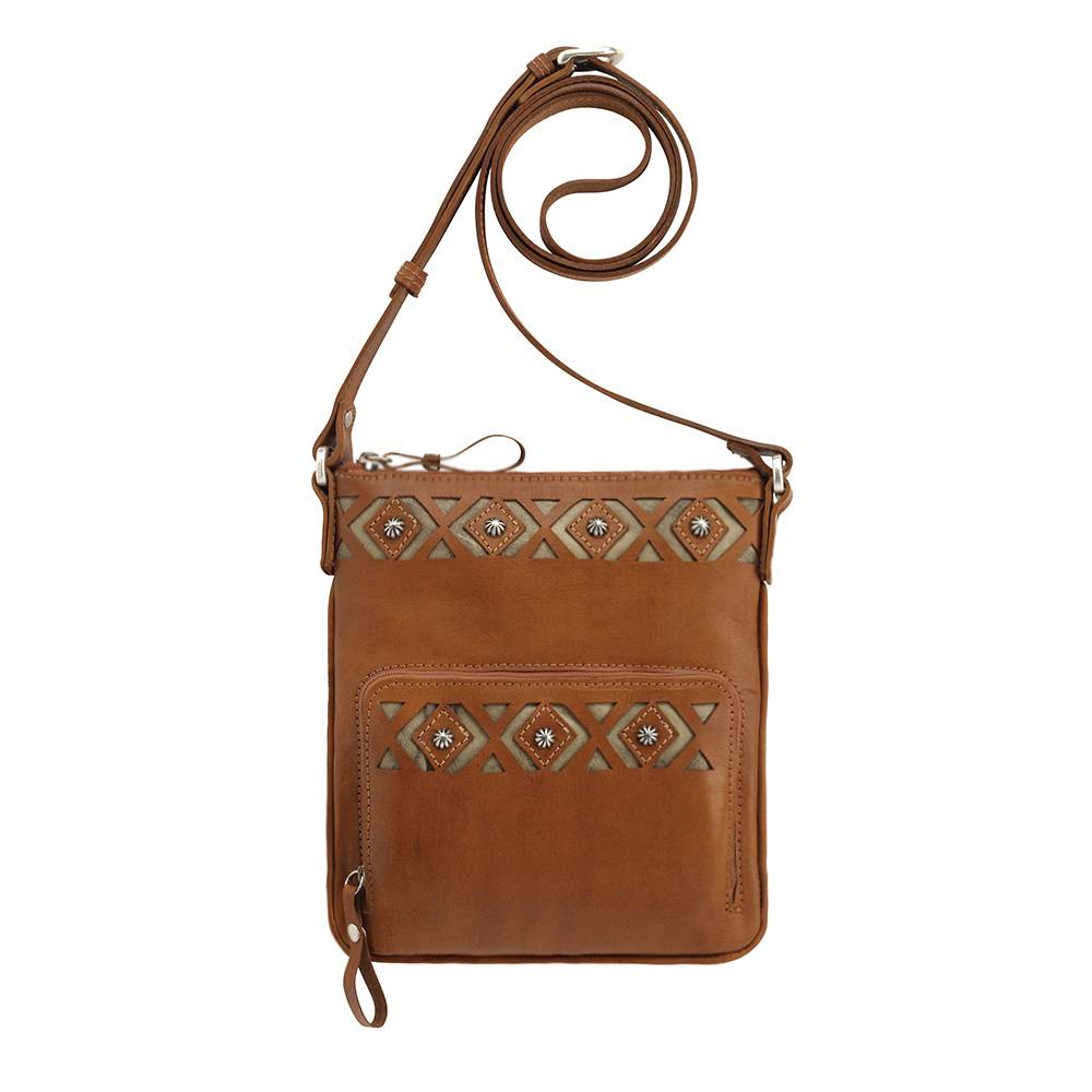 AMERICAN WEST Moon Dancer Crossbody Bag/Wallet - Tan/Sand