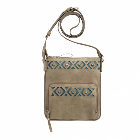 AMERICAN WEST Moon Dancer Crossbody Bag/Wallet - Sand/Blue