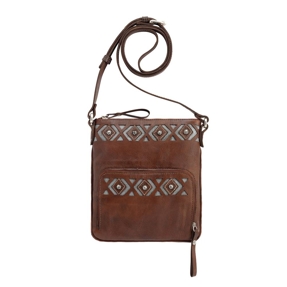 AMERICAN WEST Moon Dancer Crossbody Bag/Wallet - Brown/Turquoise
