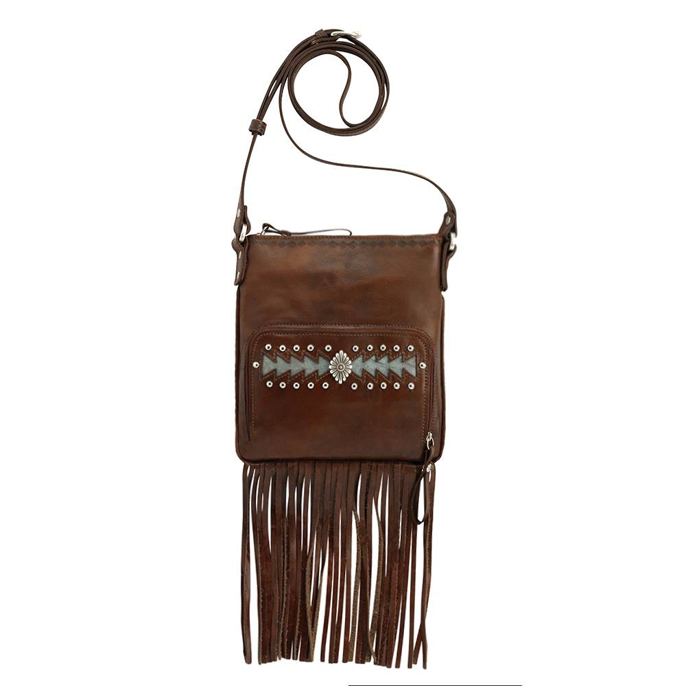 AMERICAN WEST Moon Dancer Crossbody Bag/Wallet with Fringe