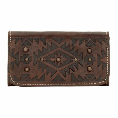 AMERICAN WEST Mystic Shadow Tri-Fold Wallet - Chestnut Brown