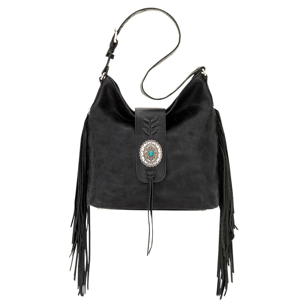 AMERICAN WEST Seminole Soft Slouch Shoulder Bag - Charcoal