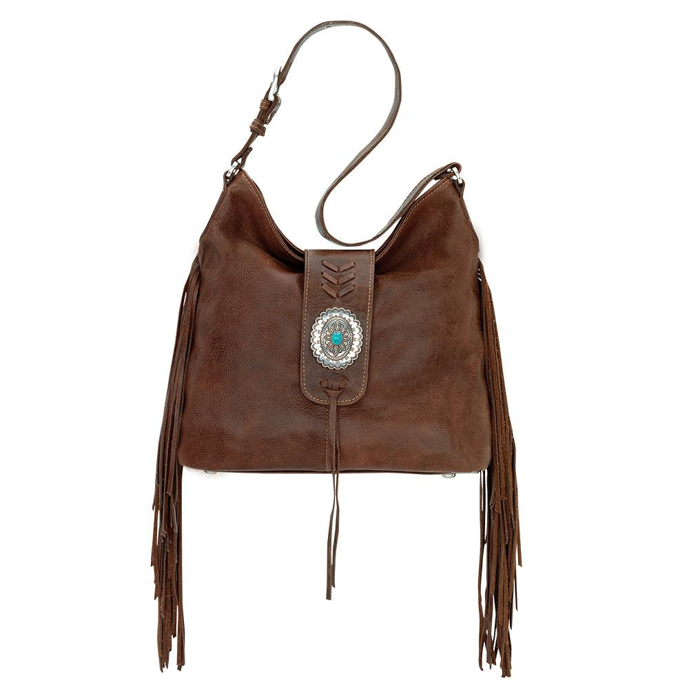 AMERICAN WEST Seminole Soft Slouch Shoulder Bag - Tobacco