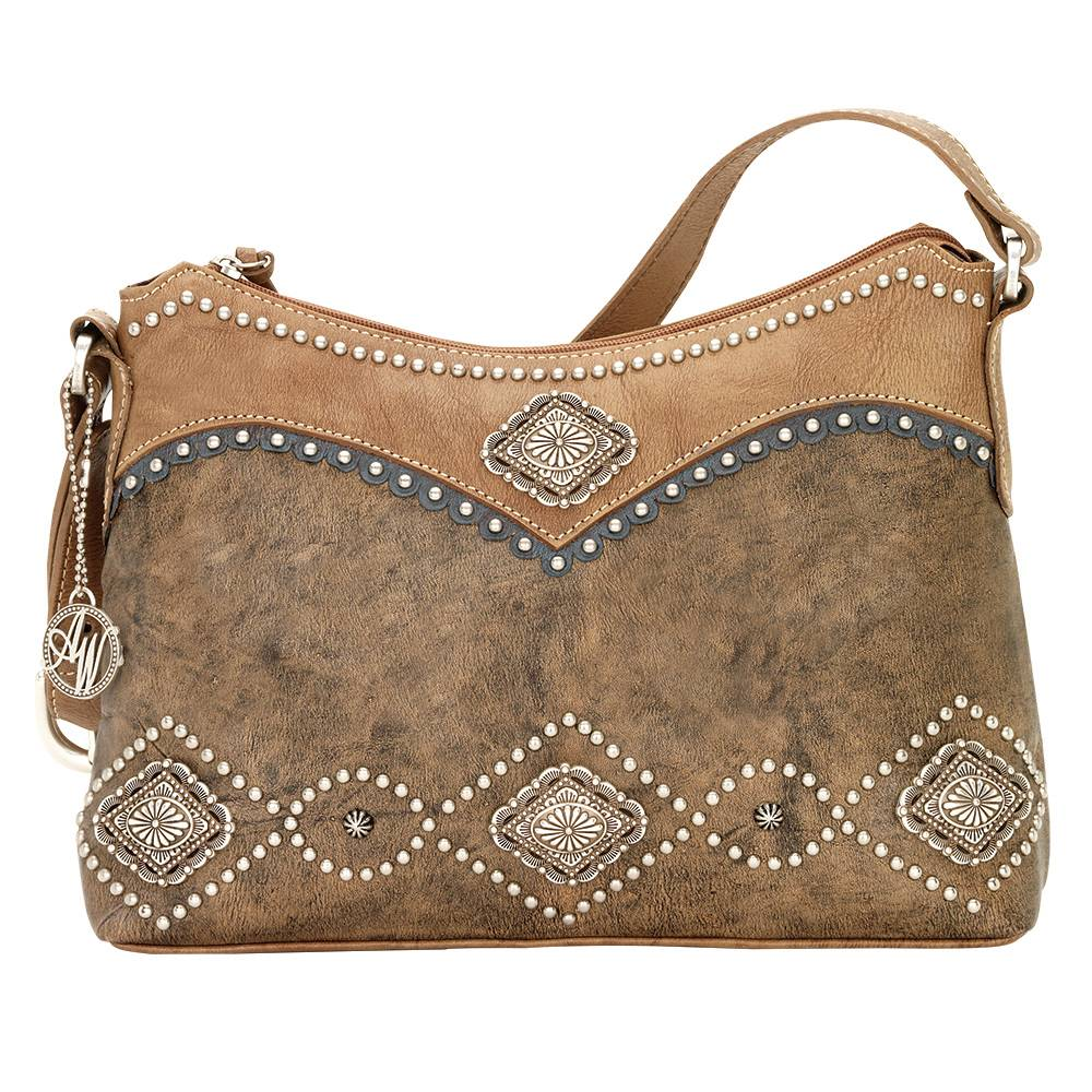 AMERICAN WEST Sierra Zip-Top Shoulder Bag