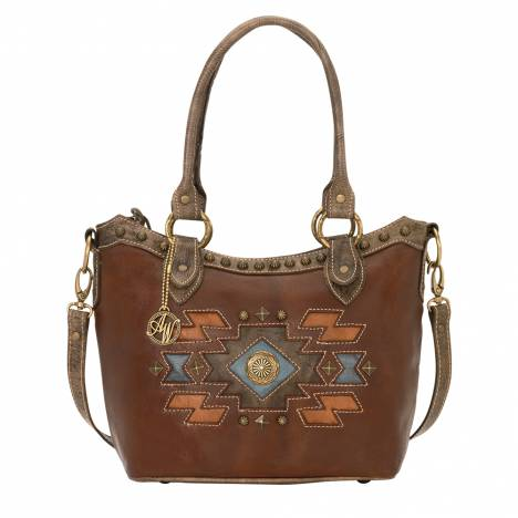 AMERICAN WEST Zuni Passage Convertible Zip Top Bucket Tote