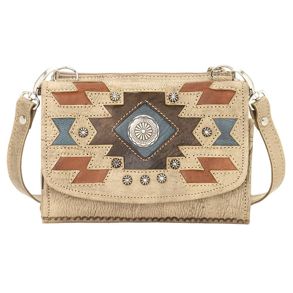 AMERICAN WEST Zuni Passage Small Crossbody Bag/Wallet - Sand