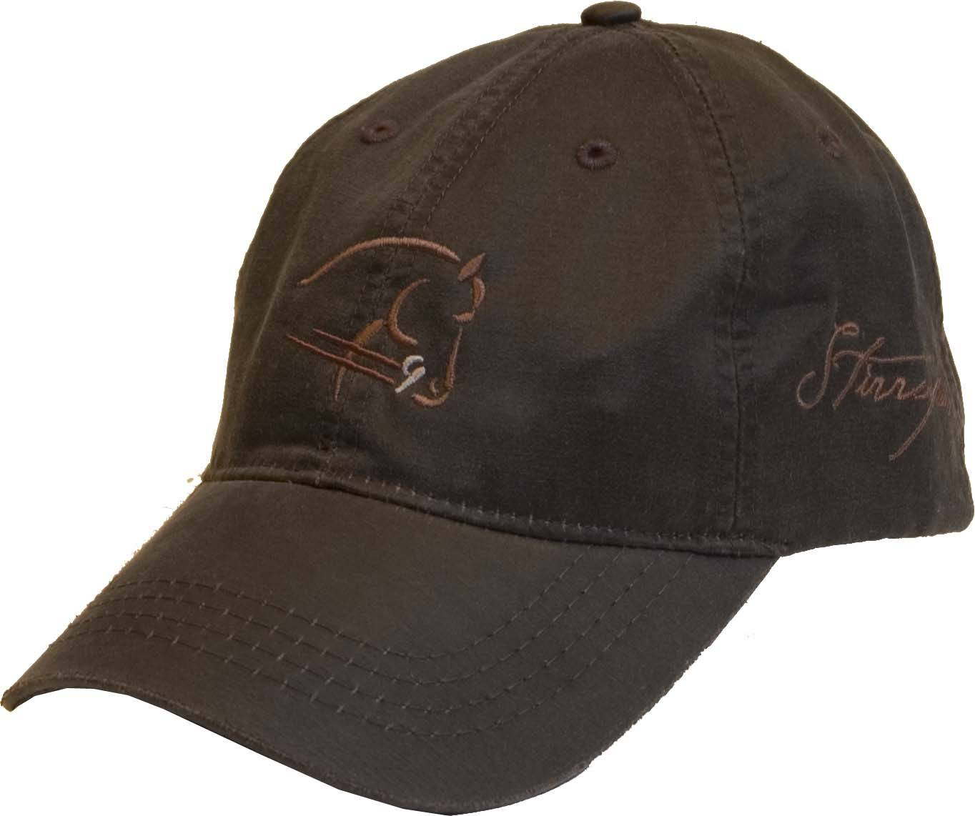 Stirrups Ladies Embroidered Horse Head Outline Weathered Cotton Cap