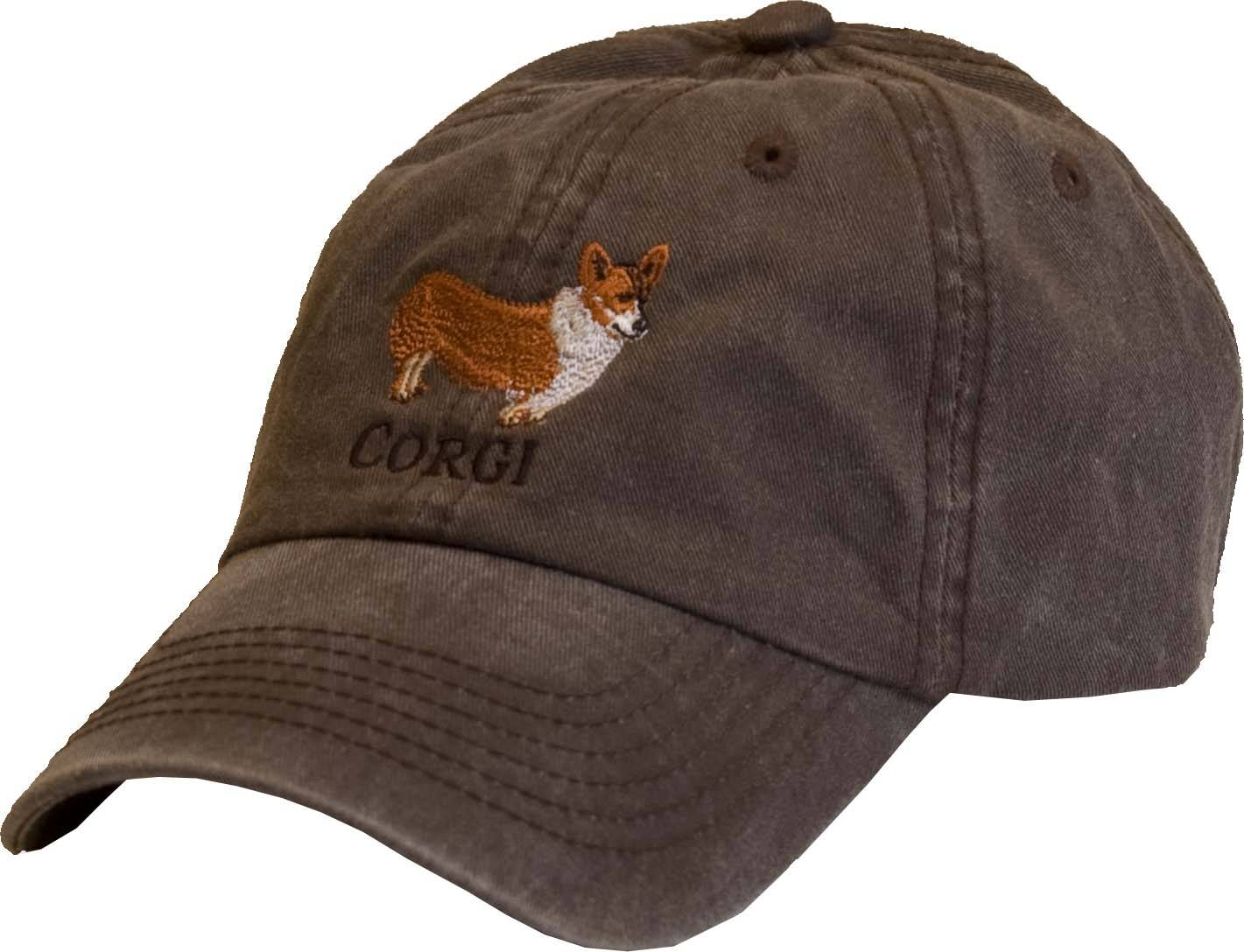 Stirrups Ladies Embroidered Corgi Cotton Twill Cap