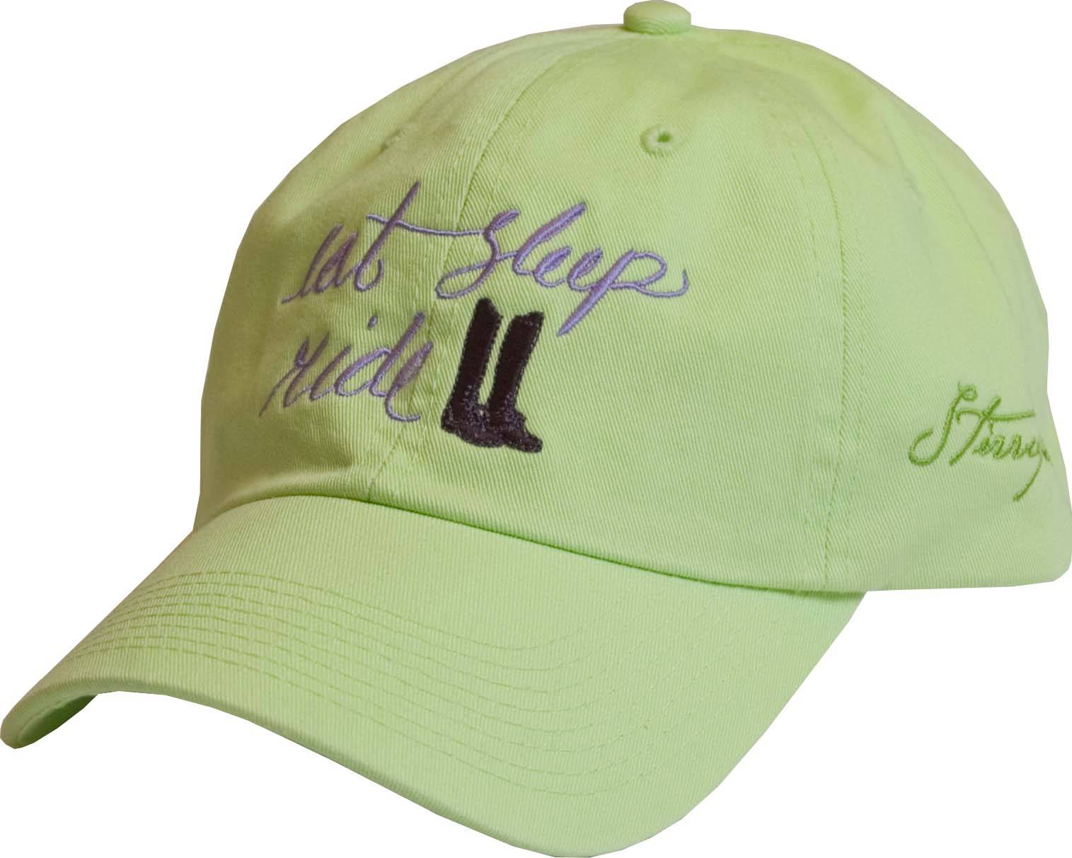 Stirrups Ladies Embroidered English Eat Sleep Ride Cotton Twill Cap