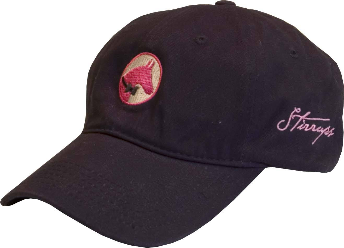 Stirrups Ladies Preppy Horse Embroidered Cotton Twill Cap