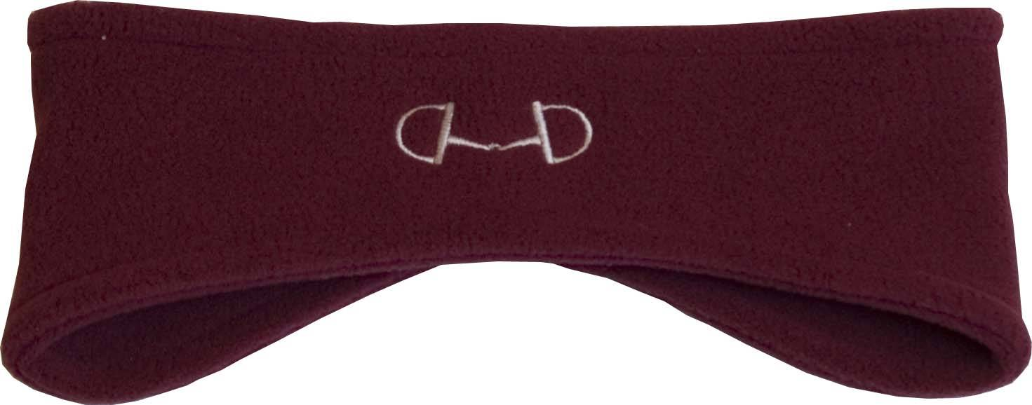 Stirrups Ladies D-Ring Bit Embroidered Fleece Headband