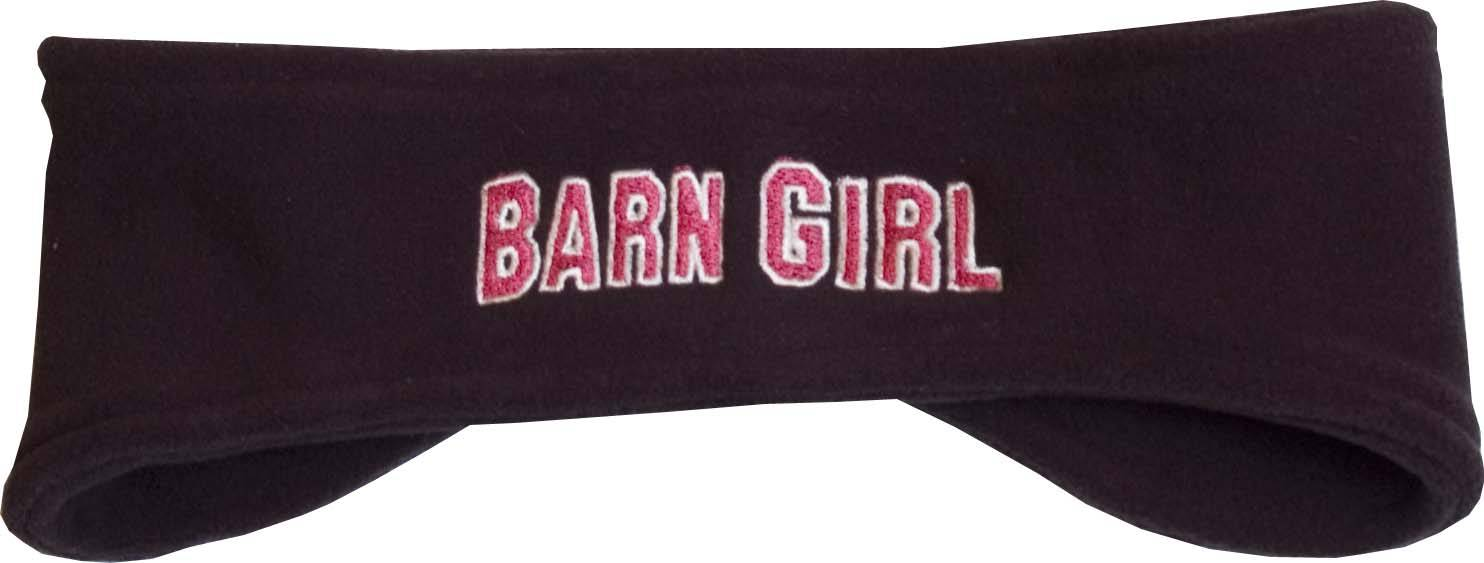 Stirrups Ladies Barn Girl Embroidered Fleece Headband